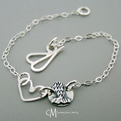 Lets be Mermaids Anklet  Sterling Silver by courtneymariejewelry