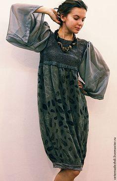 """Платья ручной работы. Ярмарка Мастеров - ручная работа Валяное платье """"Видение Моне"""". Handmade."""