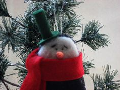 Snowman Ornament - Christmas Ornament on Etsy, $16.00