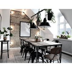 Rustique dining table inspiration for the living room Room Inspiration, Interior Inspiration, Rooms Ideas, Style Deco, Scandinavian Home, Dining Room Design, House Rooms, Home And Living, Living Room