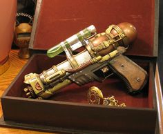 "Steampunk Accessories and Decor - Kelly's Heroes - Turning cheap water guns into steampunk ""art""."