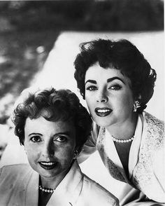 Elizabeth Taylor - with her mother Sara Taylor & Sara Sothern http://www.pinterest.com/pin/367254544585109755/