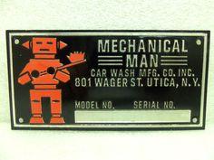 Vintage Robot Car Wash Sign