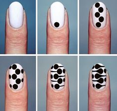 ⚫ ️➖ ⚫ t u t ⚫ r i a l ⚫ ️➖ ⚫ dots nail art design tutorial step by step di Dot Nail Art, Nail Art Diy, Easy Nail Art, Diy Nails, Pretty Nail Art, Beautiful Nail Art, Stylish Nails, Trendy Nails, Nail Swag