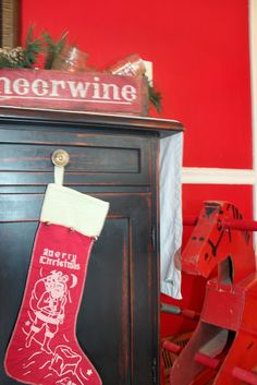 Harris Sisters GirlTalk: One Man's Trash - Vintage Items Turned Christmas Decorations - Wonder Horse - Cheerwine Soda Crate