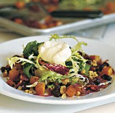 Roasted Butternut Squash Salad with Sherry Maple Vinaigrette - a ...