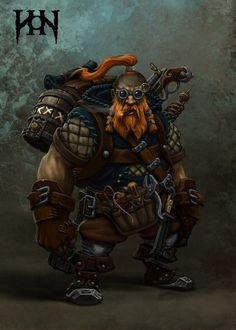 Engineer Picture  (2d, fantasy, character, dwarf, engineer)