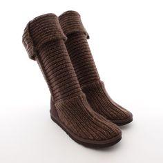 Strick Stiefel von UGG Australia in Braun Gr. EU 37