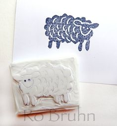 Hand carved sheep stamp