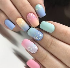If you're searching for some straightforward and easy nail art styles and concepts then you're at right place. i'm attending to share some straightforward nail art patterns which may be created simply. Pastel Nails, Cute Acrylic Nails, Acrylic Nail Designs, Cute Nails, Gel Nails, Manicure, Coffin Nails, Smart Nails, Nagellack Design