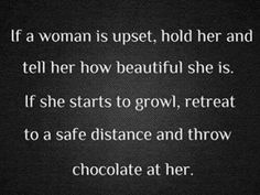 If a woman's upset