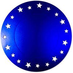 Sottopiatto Stelle in cartoncino Blu Satinato. 4 pz diam.34 cm. Apparecchiare con eleganza. Molto bello abbinato ad un piatto decorato, tipo Magic Night, o al tinta unita argento satinato o ludico. Disponibili da C&C Creations Store