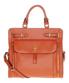This Tangerine Lacee Leather Tote by Segolene En Cuir is perfect! #zulilyfinds