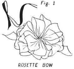Rosette Bow, how to make it with very good directions.