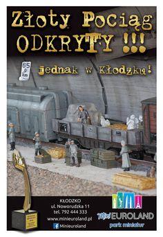 Złoty Pociąg odkryty   Minieuroland - Park miniatur Kłodzko