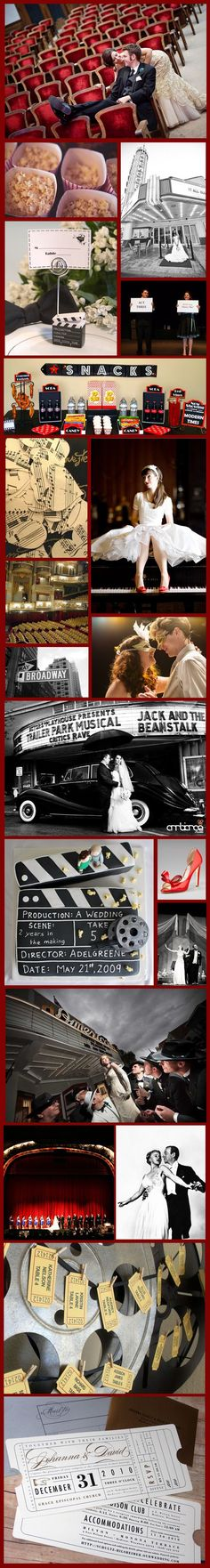 O my God. I thought I knew what my wedding was going to be. I had no clue until I saw these. Lol. Broadway Theater Wedding.