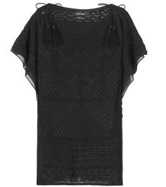 ISABEL MARANT Allen Silk Top. #isabelmarant #cloth #clothing