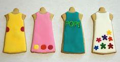 Love these retro mini dresses - clever!