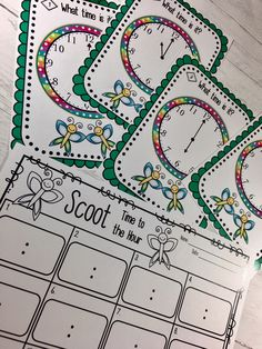 Have fun teaching time to the hour and half hours with SCOOT and TIME CHECK! 2 Terrific ways to have fun learning. Also has 10 worksheets for assessments.