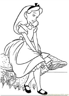 19 Alice In Wonderland Printable Coloring Pages For Kids Find On Book Thousands Of