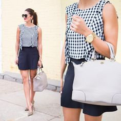 This pretty gingham blouse is on the blog today! // Shop it by going to asoutherndrawl.com or via email by signing up for @liketoknow.it  www.liketk.it/1rdBL #liketkit #asoutherndrawl #gingham #fblogger