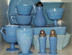 Delphite Blue Vintage Glass