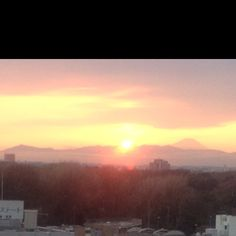 I can see the sunset and Mt. Fuji from Tokyo.
