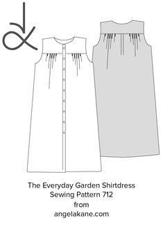 Nothing better than a comfortable, freshly laundered shirtdress for the garden. Wear it loose or belted. Generous in-seam pockets. Make it up in chambray. Shirtdress, Pdf Sewing Patterns, Dressmaking, Diy For Kids, Chambray, Kids Fashion, Projects To Try, Pockets, Garden