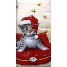 Котик на подушке НГ 21*21