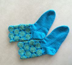 Knit Socks, Knitting Socks, Boot Cuffs, Crochet Shawl, Shawls, Gloves, Slippers, Etsy, Boots