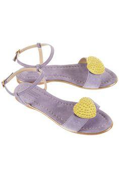 TOPSHOP FABBY Heart Trim Sandals