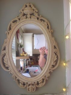 Ornamental hand painted mirror using Annie Sloan chalk paint. www.facebook.com/BureChic