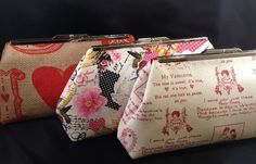 A unique way to send a valentine to that special someone!  Send A Valentine Single Clutch Purses by StacyLavelleDesigns