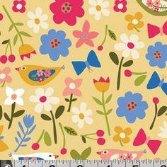 Carolyn Gavin - Village Green - Village Ditsy in Yellow
