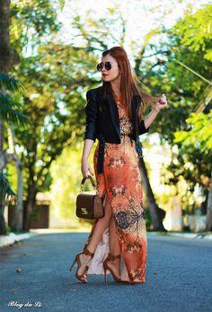 Blog da Lê-Moda e Estílo: No look longo com Jaqueta