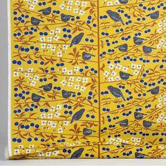 almedahls mustard korsbarstradgarden fabric