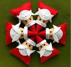 Santa Felt Brooch