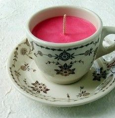 Homemade Candles in a teacup: how to make candles as homemade Christmas gifts