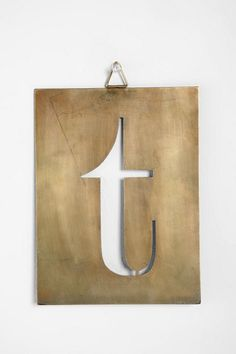 Industrial Stencil Letters at Urban Outfitters $8.00 #urban_outfitters