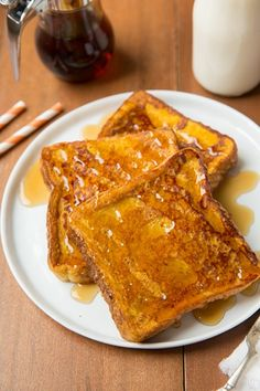 Pumpkin French Toast3/4 cup milk 1/2 cup pumpkin puree 4 eggs 2 Tbsp packed light-brown sugar 1 tsp vanilla extract 1 tsp ground cinnamon 1/4 tsp ground nutmeg 1/4 tsp ground ginger 9 slices Texas toast (or other white bread such as Challah or French bread) Butter, for griddle