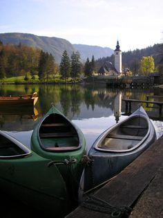 Bohinjsko jezero is a glacial lake in Slovenia,  inside Triglav National Park