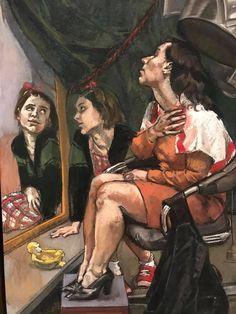 Paula Rego Art, Ilya Repin, Balenciaga Shoes, Inspirational Artwork, Gustav Klimt, Renaissance Art, Figure Painting, Contemporary Paintings, Reflection