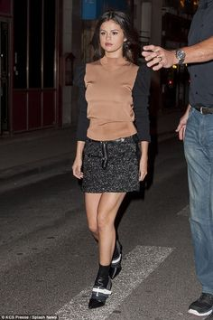 One last night out: The songstress was seen enjoying on last night when she spent the previous evening at Dave restaurant in Paris