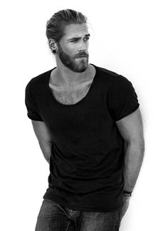 God bless bearded men  | We Heart It | model and ben dahlhaus