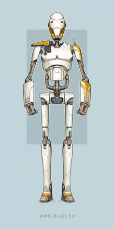 Star Wars Characters Pictures, Star Wars Pictures, Star Wars Concept Art, Robot Concept Art, Droides Star Wars, Star Wars Battle Droids, Star Wars Painting, Starwars, Star Wars Poster