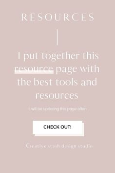 It is important to establish a trustworthy network of products and services that can help you build and optimize your creative business. So I put together this resource page with the best tools and resources for your creative blog.