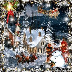 Merry Christmas Animation, Merry Christmas Gif, Merry Christmas Pictures, Christmas Scenery, Christmas Wishes, Christmas Art, Christmas Greetings, Beautiful Christmas, Christmas Themes