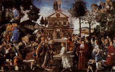 Sandro Botticelli, Temptation of Chirst, Bearer of the Law of the Gospel
