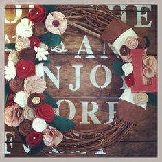 Monogram wreath, year round wreath, every day wreath, burlap wreath, mothers day gift on Etsy, $44.00