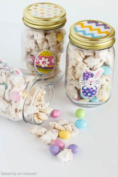 Bunny Chow with Easter Jar Tutorial Bunny chow is a festive twist on the classic muddy buddies snack mix. It's made with peanut butter, white chocolate, rice cereal, and peanut M&M's® Pastels. …